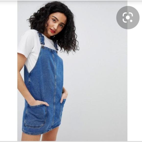 ASOS Dresses & Skirts - New Look Denim Pinny Dress